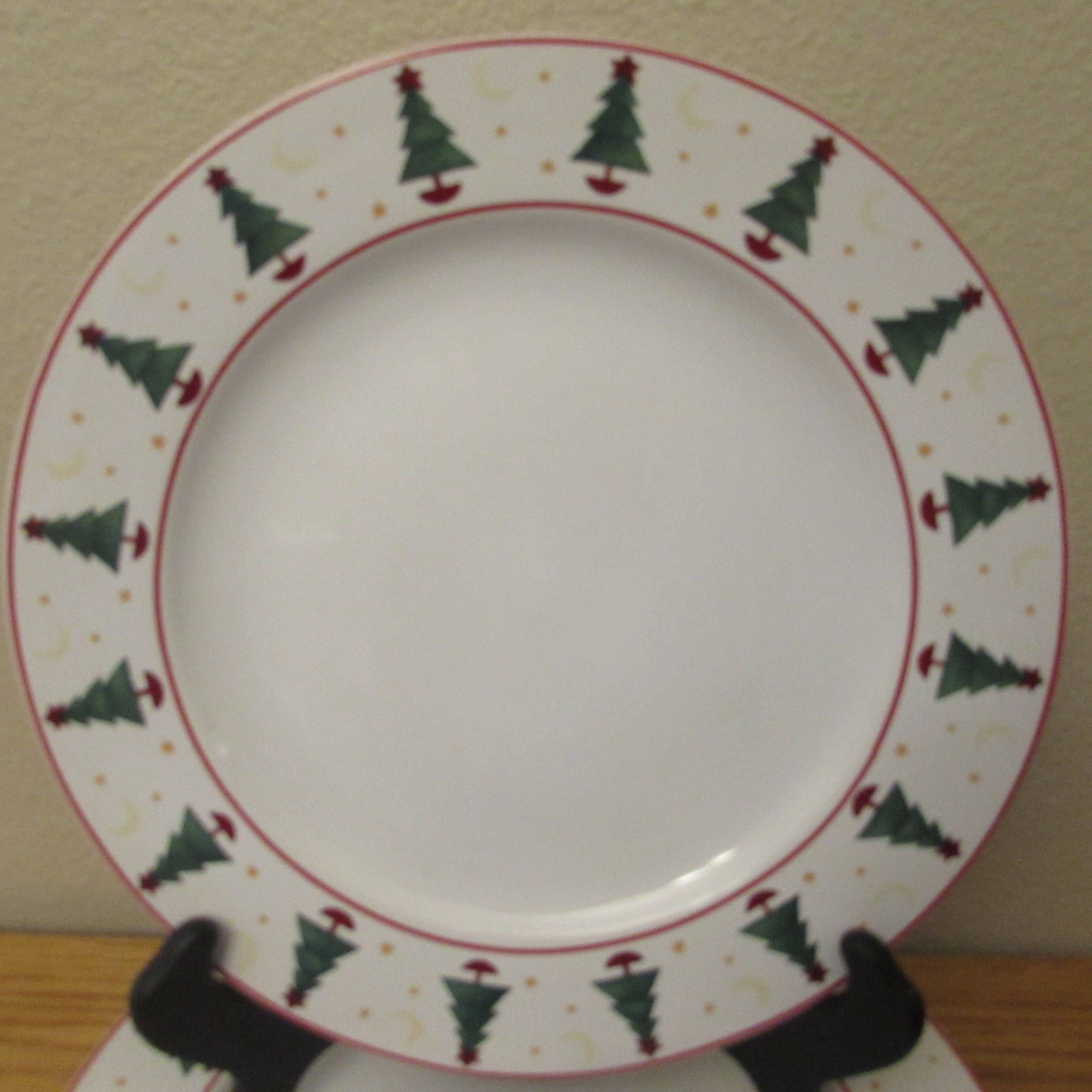 Vintage Set of 4 Dinner Plates Sakura Magic of Santa by Debbie Mumm 1961 by OldWindmillMarket & Vintage Set of 4 Dinner Plates Sakura Magic of Santa by Debbie Mumm ...