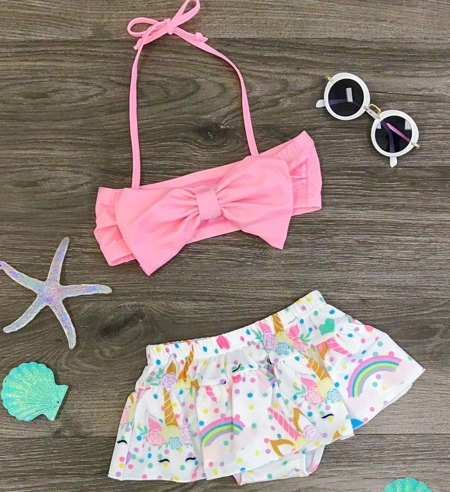 c3988638164ff Two Piece Unicorn Bathing Suit Swimsuit size 12-18m 2 3 dash #Unbranded # OnePiece