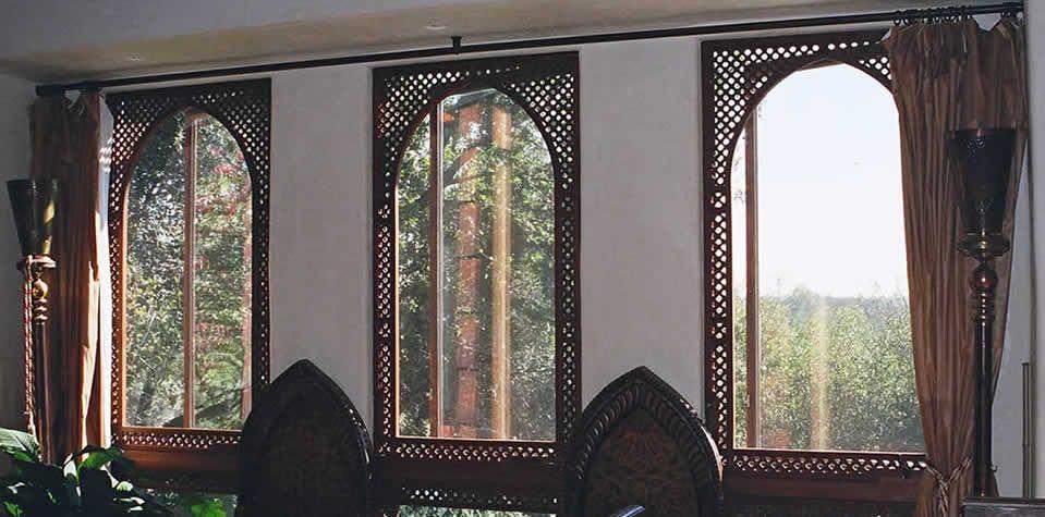 Moroccan Wood Window 3 Wood Doors Wood Windows