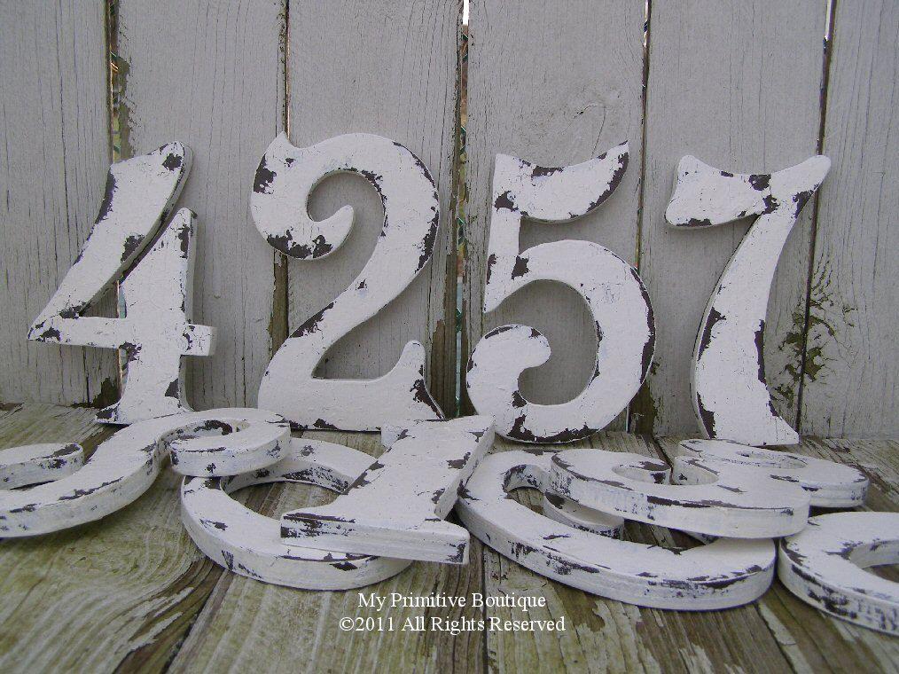 Table Numbers Vintage NumbersWooden NumbersWedding