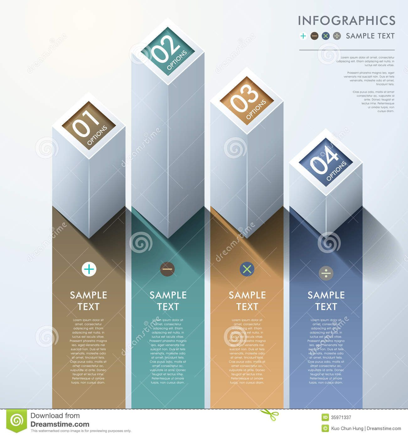 abstract 3d bar chart infographics royalty free stock photography