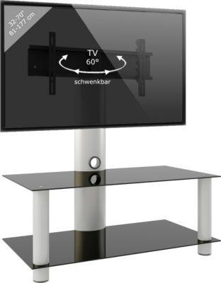 VCM TV-Rack Lowboard Konsole Fernsehtisch TV Möbel Glastisch Tisch