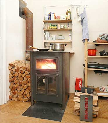 holzofen wood cooker stove. Black Bedroom Furniture Sets. Home Design Ideas