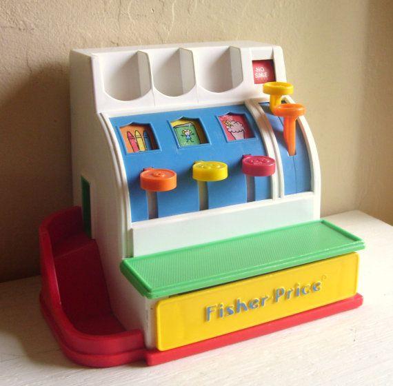 893f7fa76244 Vintage Fisher Price Cash Register Child Toy Working 2044