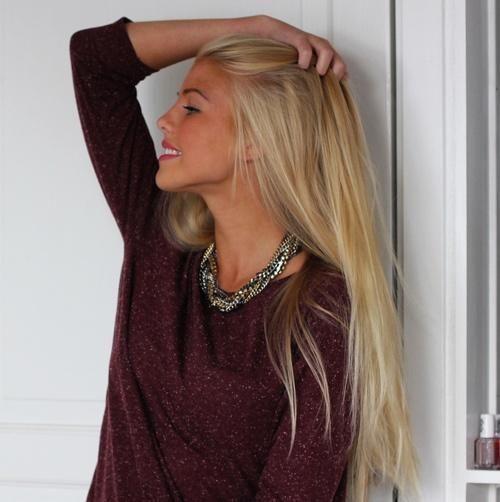 long blonde hair - debating not cutting my hair and just letting it grooooow...