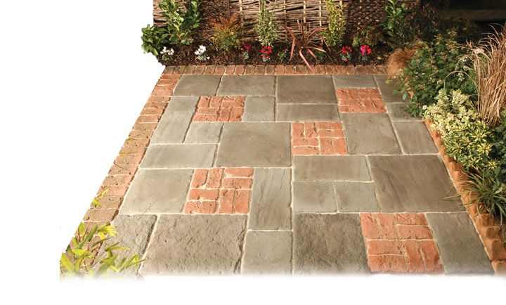 LONSTONE   REGENCY BRICK PAVING IN AGED TERRACOTTA