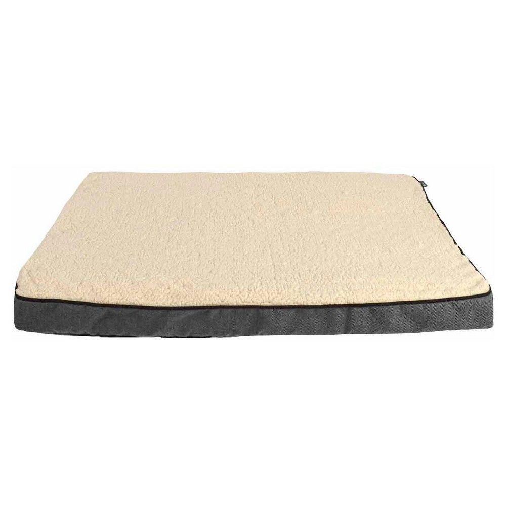 "Woolrich XLarge Ortho Gusset Pet Bed - Ebony, Radiant Gray (40 x 30"" x 3"")"