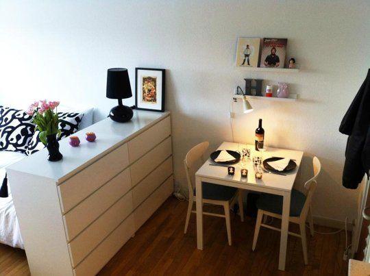 Dresser As Room Divider. Kleine Wohnung EinrichtenEinrichten Und Wohnen Single ...