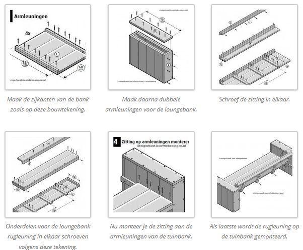Beste Loungebank maken, gratis bouwtekening voor steigerhout. (met PM-58