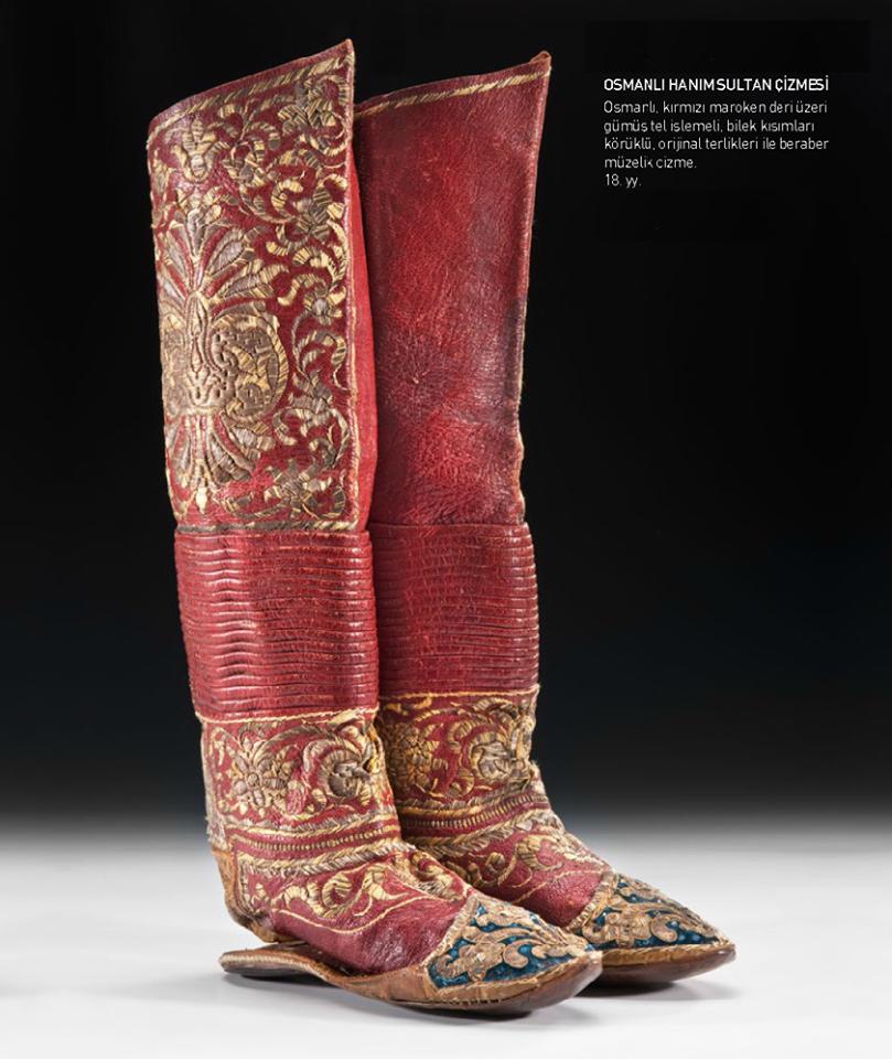 THE BOOT OF OTTOMAN SULTANA, 18 TH CENTURY Osmanlı Hanım Sultan Çizmesi,  18. yy bd8b9f8d2cc