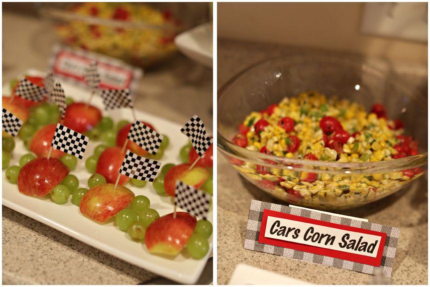Cars Theme 2nd Birthday Party Vroom Vroom Cars Cars Corn Salad 2nd Birthday Parties Birthday Parties Car Themes