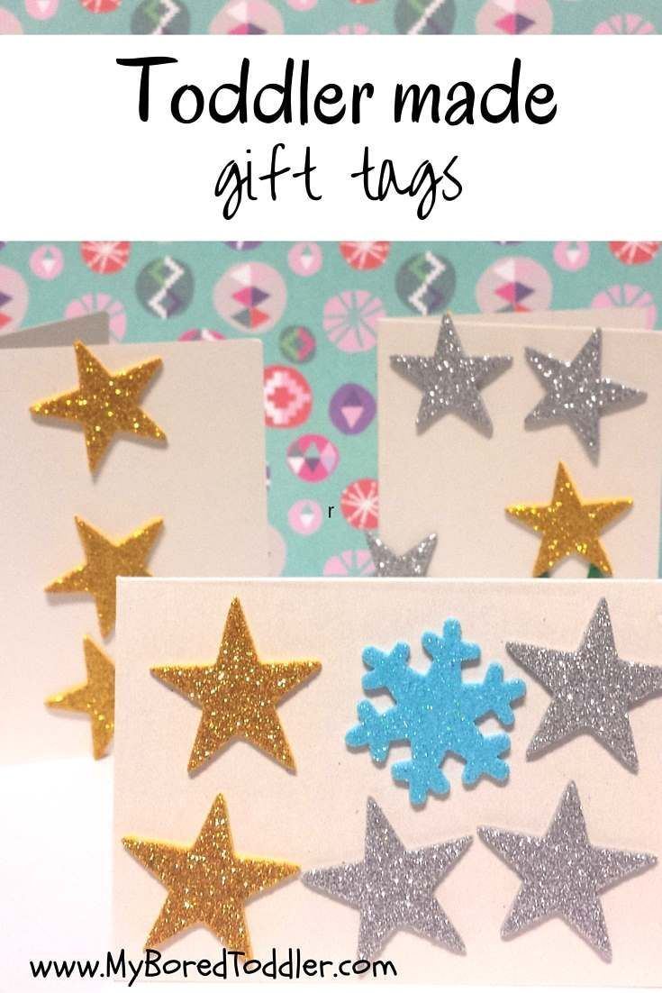 Toddler Christmas Craft Gift Ideas Part - 41: Christmas Craft For Toddlers - Gift Tags