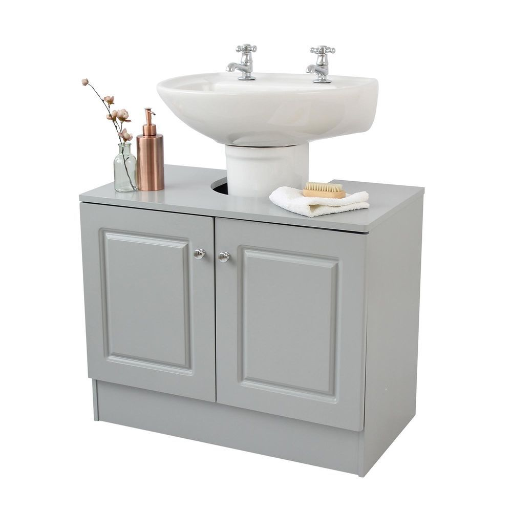 Bath Under Sink Storage Unit Organiser Bathroom Furniture Cupboard Cabinet Grey Bathroom Collections Grey Bathrooms Bathroom Vanity Units