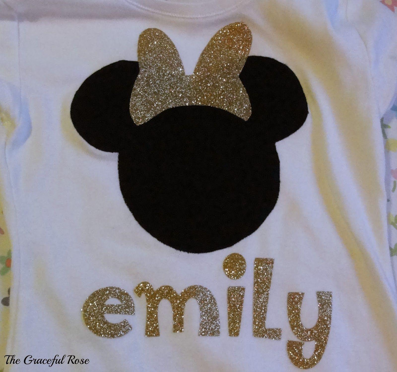 Minnie Mouse Shirt Using Cricut Iron On Transfer Material Cricut