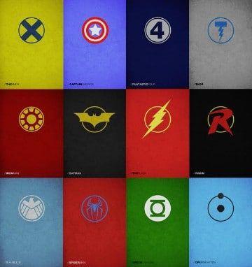 logos de los superheroes dc marvel vs dc pinterest marvel