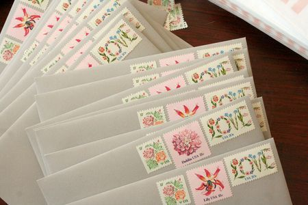 Using Multiple Stamps On Invitations To Maximize Cuteness Effect   # Invitation #stamp #post