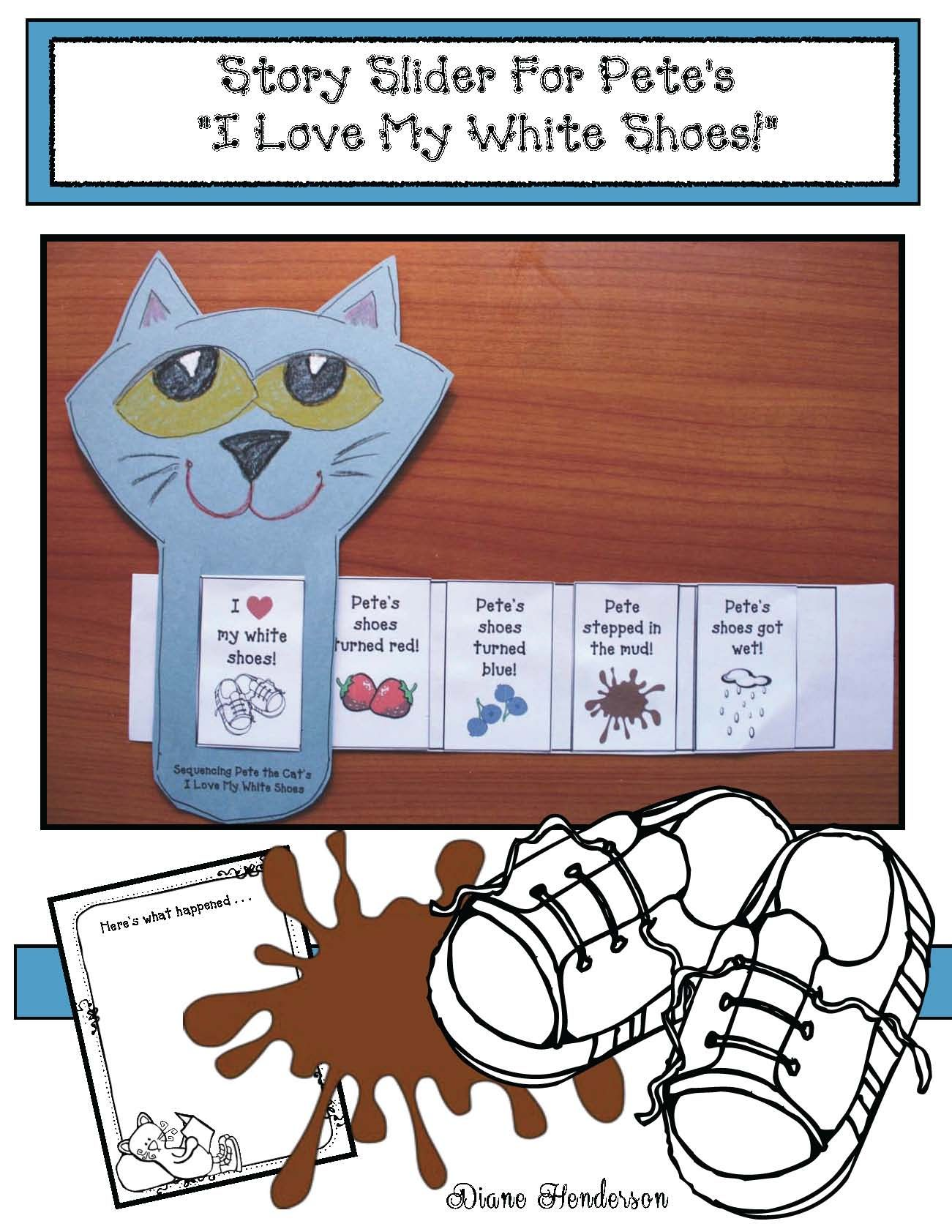 Pete The Cat Activities I Love My White Shoes