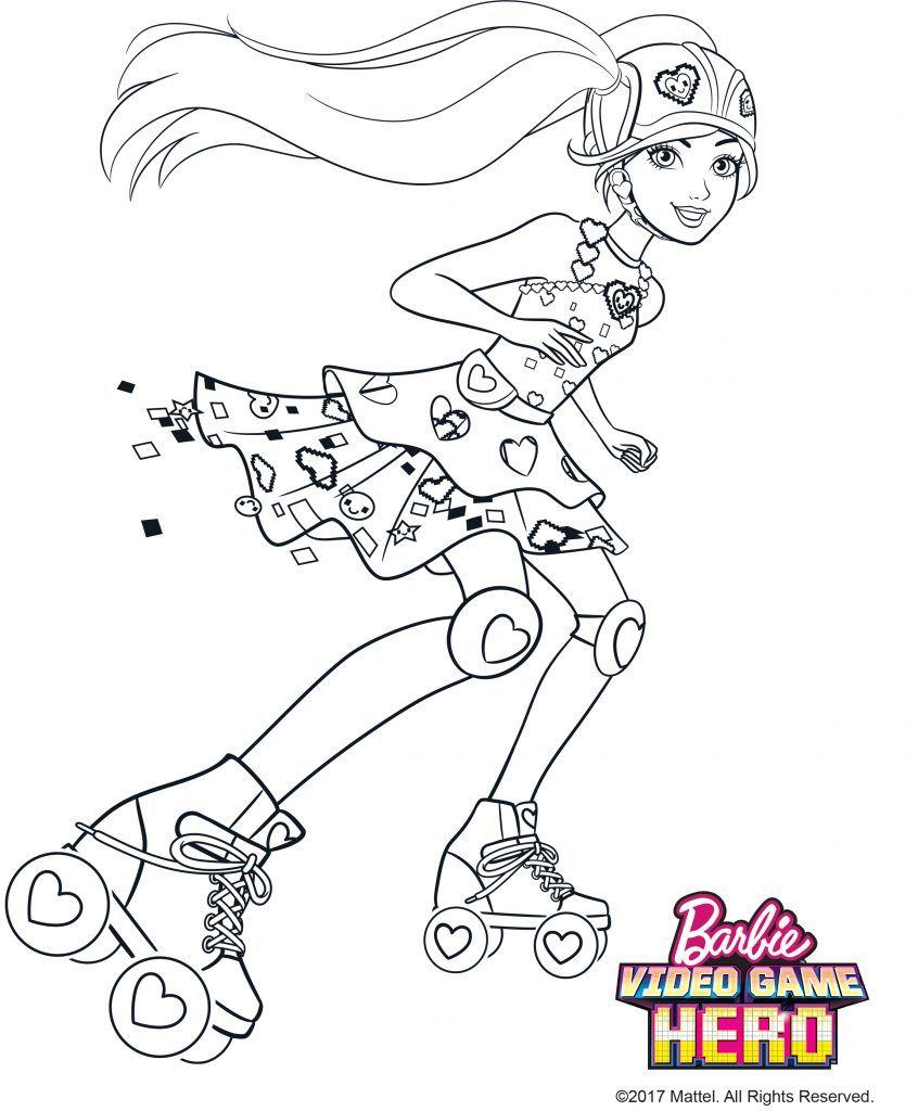 Barbie Em Um Mundo De Video Game Com Imagens Colorir Barbie