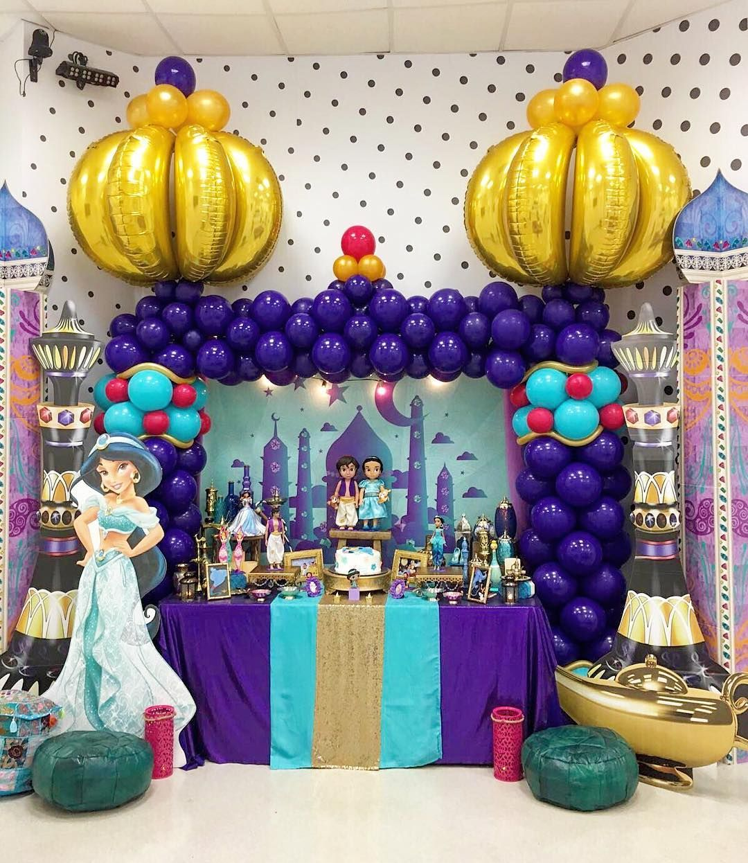 Aladdin And Jasmine Birthday Party