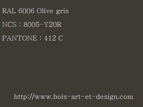 ral 6006 olive 564 423 codes ral codes ncs codes pantone 207 r f rences. Black Bedroom Furniture Sets. Home Design Ideas