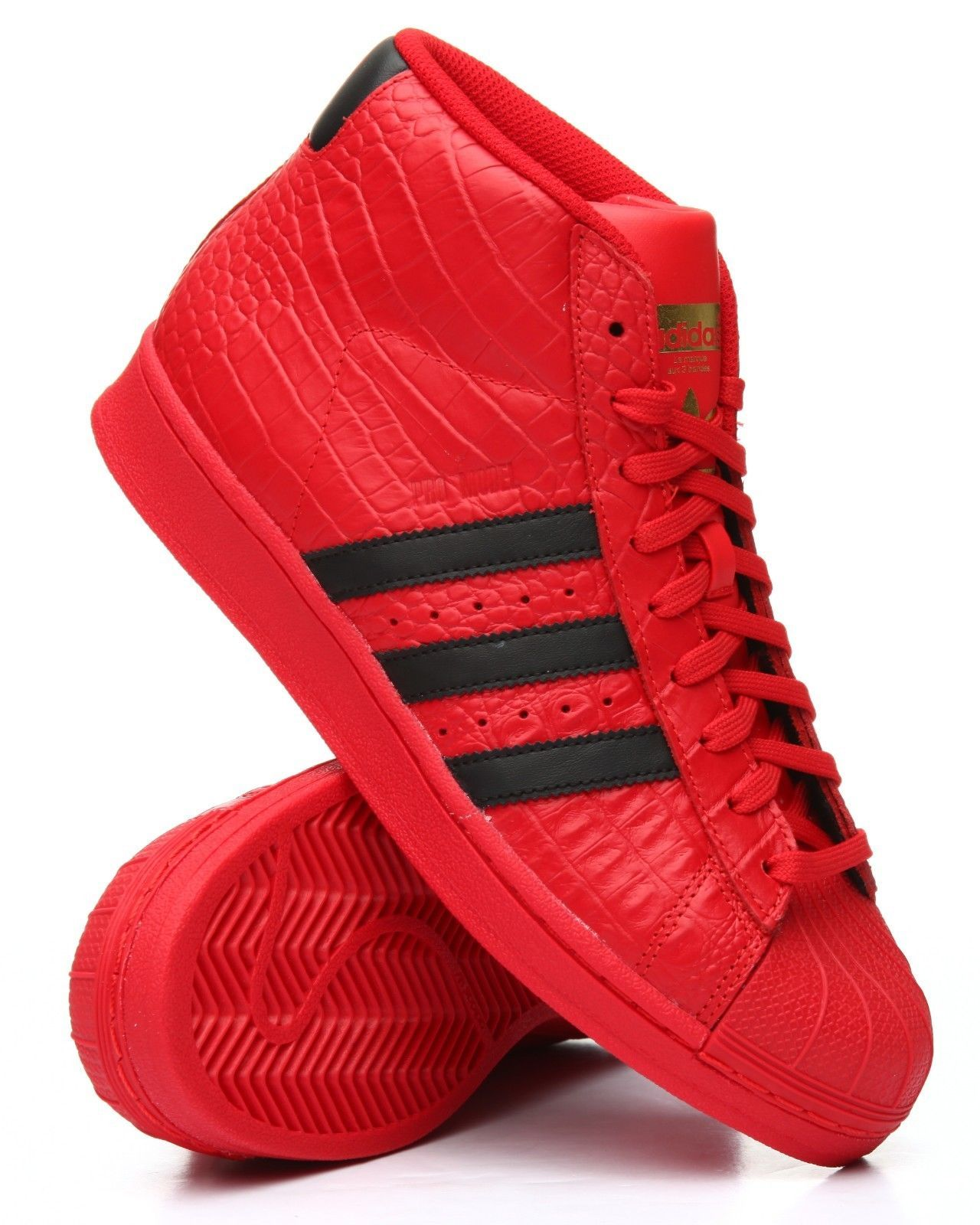 56cdd777a362a NIB MENS ADIDAS ORIGINAL PRO MODEL RED BLACK GOLD BASKETBALL SHOES CQ0873