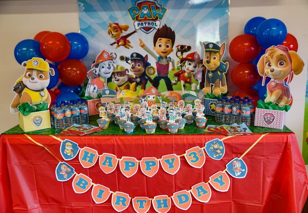 Sensational Diy Paw Patrol Party Decoration Centerpieces Birthdays Download Free Architecture Designs Scobabritishbridgeorg