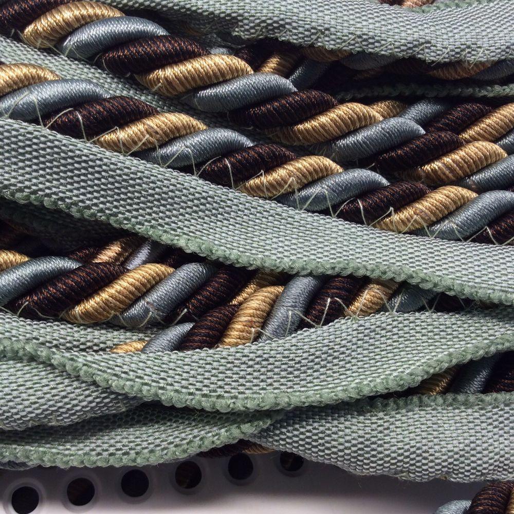 Lip Cord 3 8 Blue Green Brown Tan Pillows Crafts Upholstery Trim 3