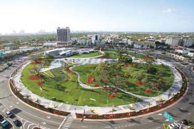 Arts Park At Young Circle Hollywood Florida Urban Landscape Park Landscape Urban Landscape Design
