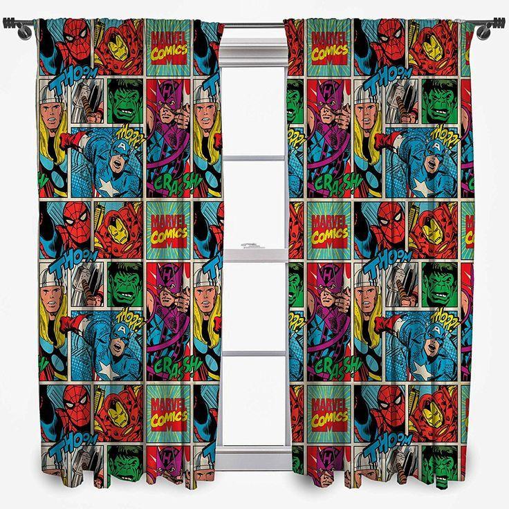 Marvel Comic Superhelden Vorhang Gardine