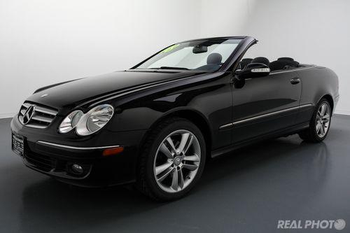 Black Mercedes Benz CLK 350
