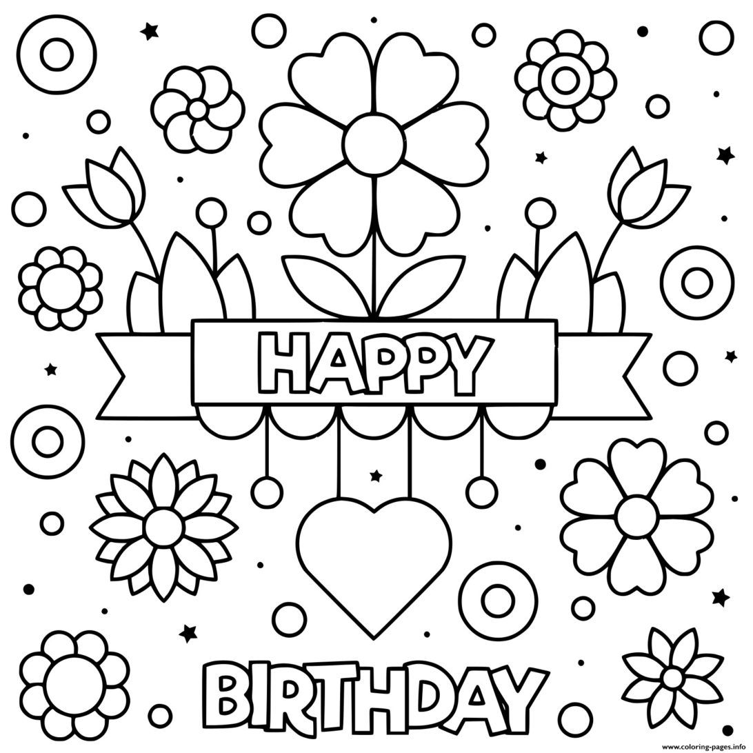 Happy Birthday Coloring Card Happy Birthday Coloring Pages Free Printable Birthday Cards Birthday Coloring Pages