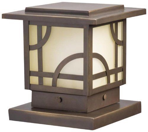 Kichler Lighting 15474oz Larkin Estate Post Light 12 Volt Deck And Patio Light Olde Bronze With Umber Etched Glass By Kichler 159 00 Jardin Zen Bronze Zen