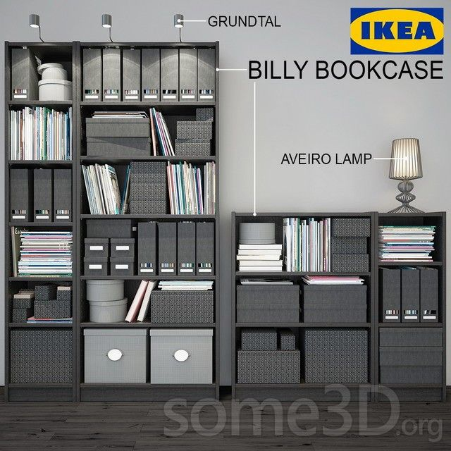 Billy Bookcase IKEA max | models | 53 MB shelving, ikea, magazine, book. 2  shelf BILLY BOOKCASE (wenge) of