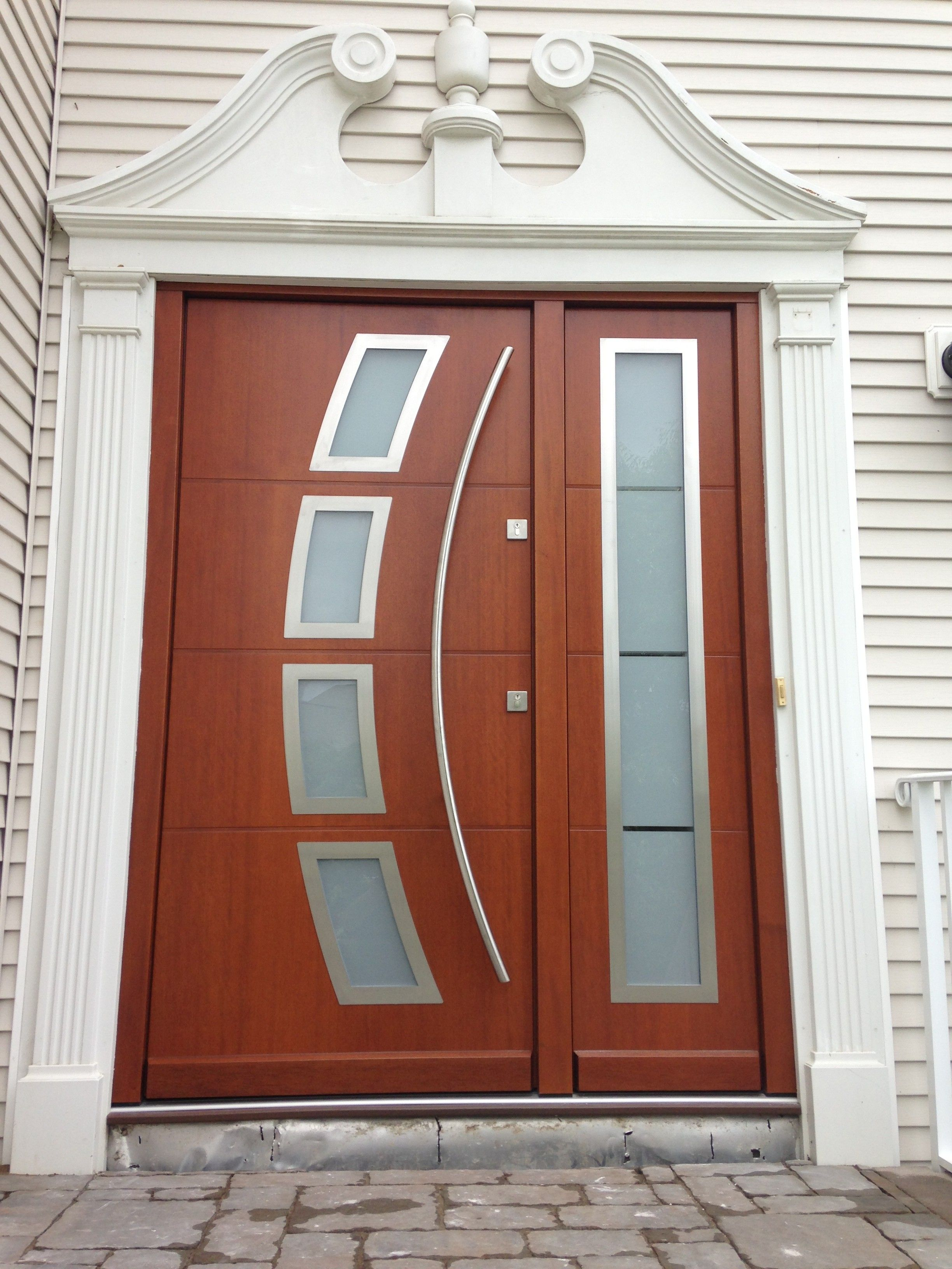 This Unique Front Door Throws A Twist On A Classic Design