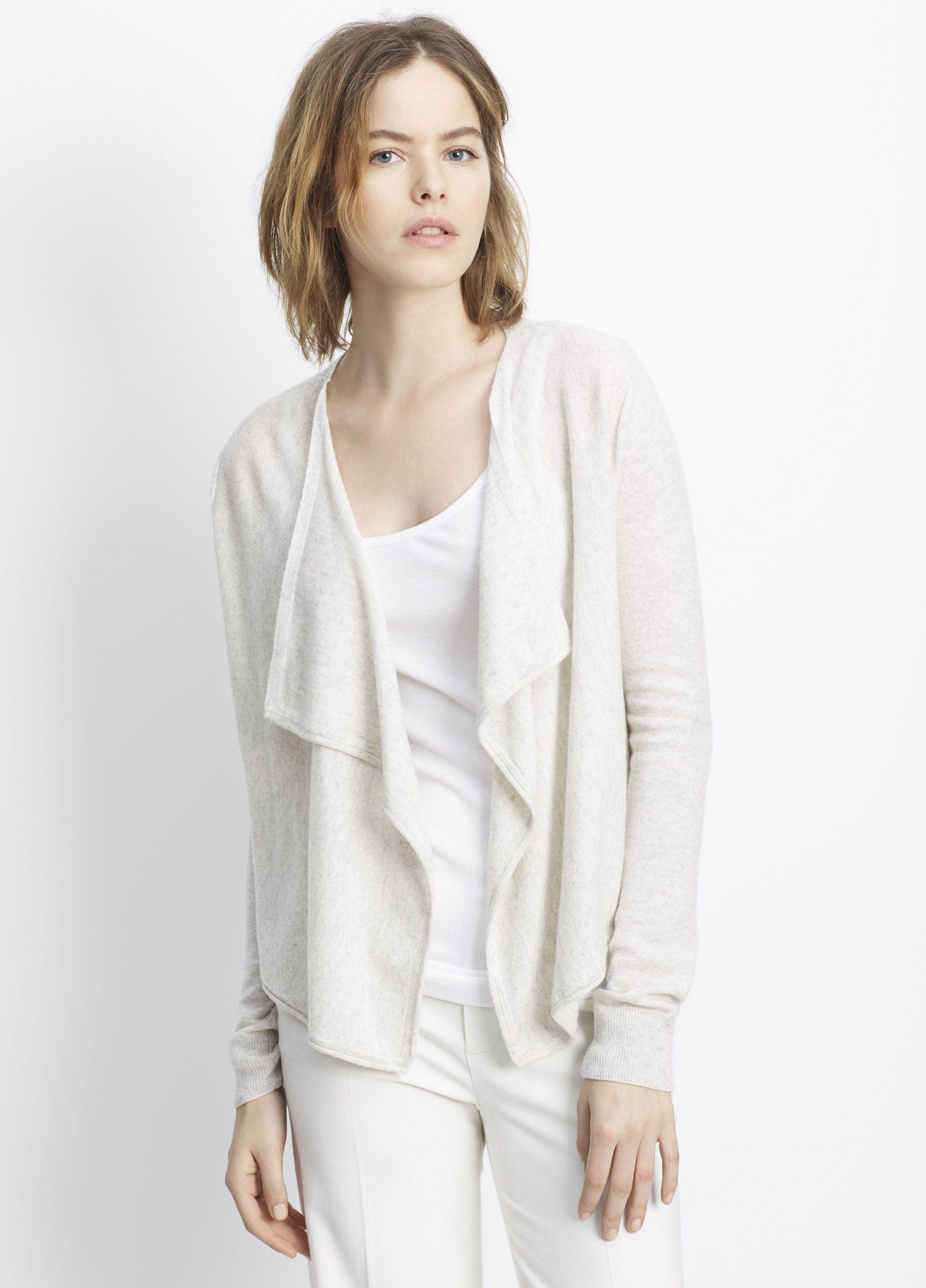 blanc front by tweed shawl sm cardigan collar noir itm s bnci womens drape women grey sweater drapes