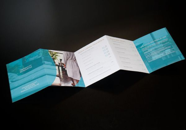 Spa Brochure Design  Print Design  Illustration