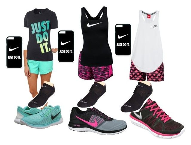 """Morning jog"" by tayler2003 ❤ liked on Polyvore featuring NIKE"