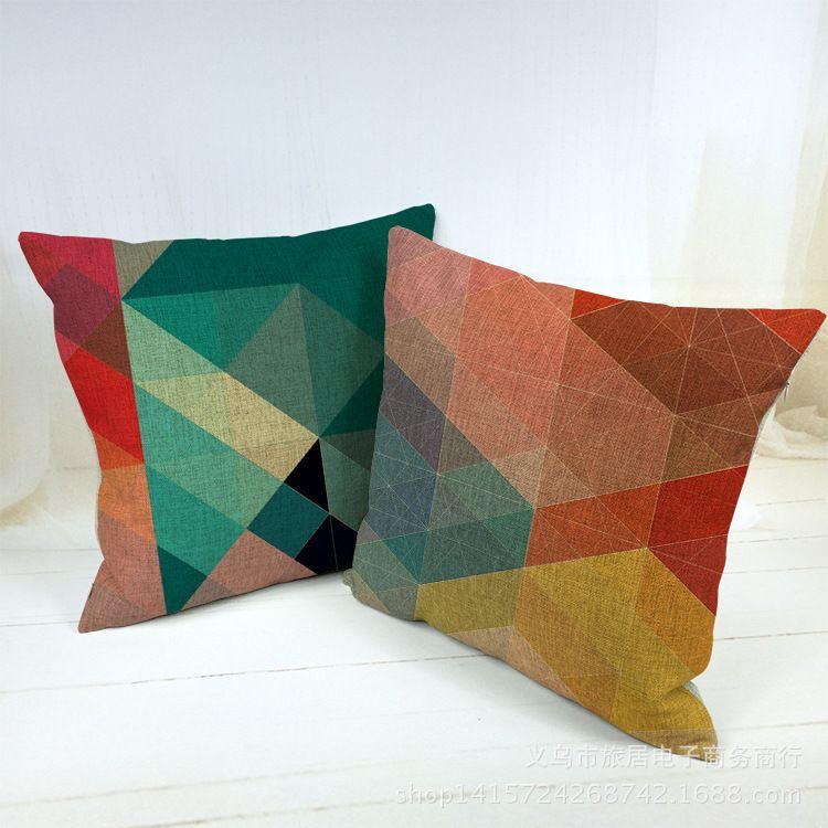 Nordic Pouf Kussens Retro Vintage Plaid Decorative Throw Pillow