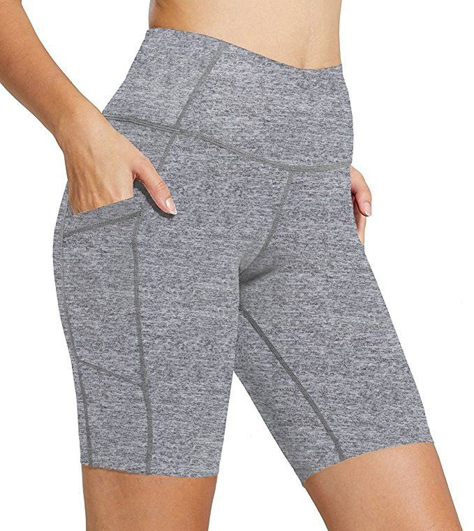 07cb826af0c826 FIRM ABS Womens Capri Half Tights Leggings Fitness Workout Short Pants Grey  L