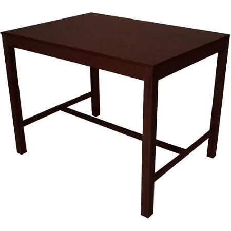 Mainstays Parsons Counter Height Dining Table, Espresso