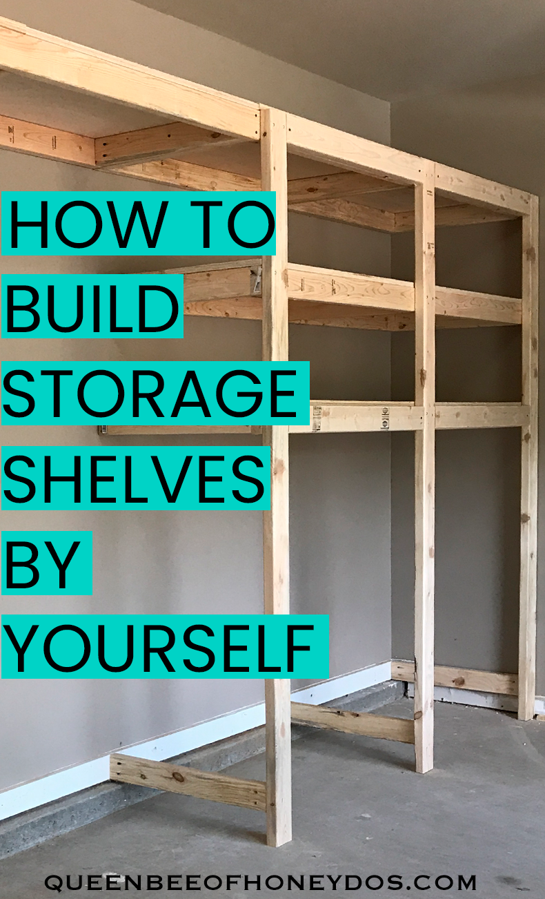 Photo of How to build garage storage shelves by yourself! This is the easiest way to cons…