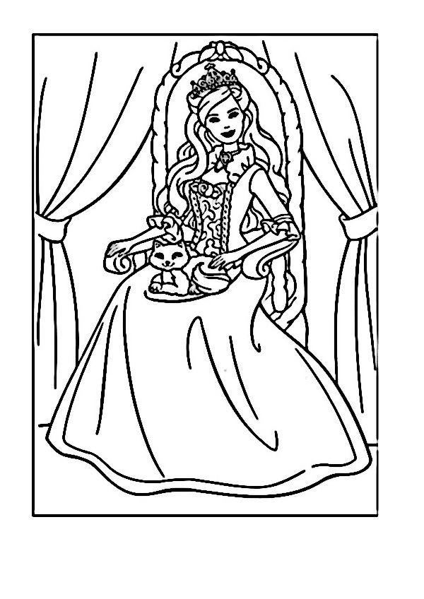 Dibujos para Colorear Barbie 72 | Dibujos para colorear para niños ...
