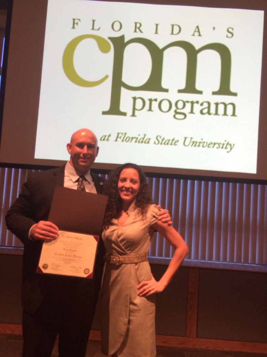 Congratulations Dennis Cpm Certification From Fl State University
