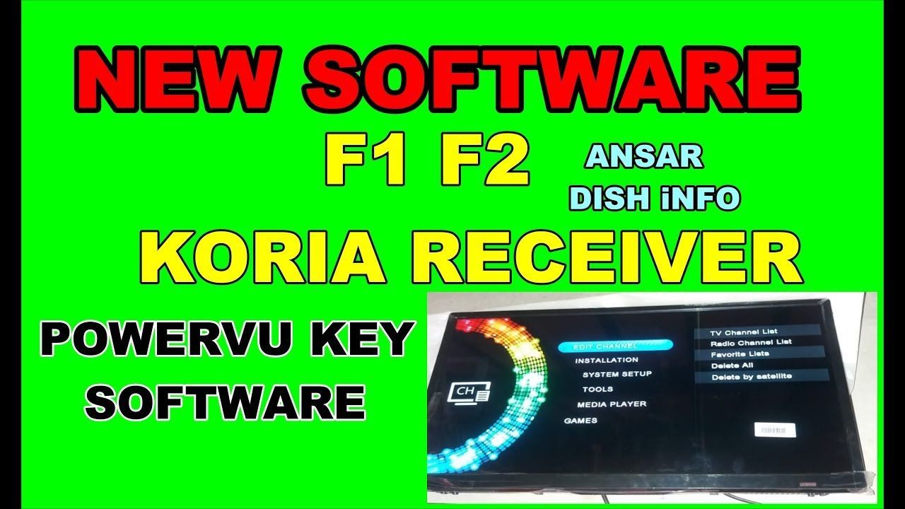 F1 F2 KORIA RECEIVER NEW POWERVU SOFTWARE 2018 | star look in 2019