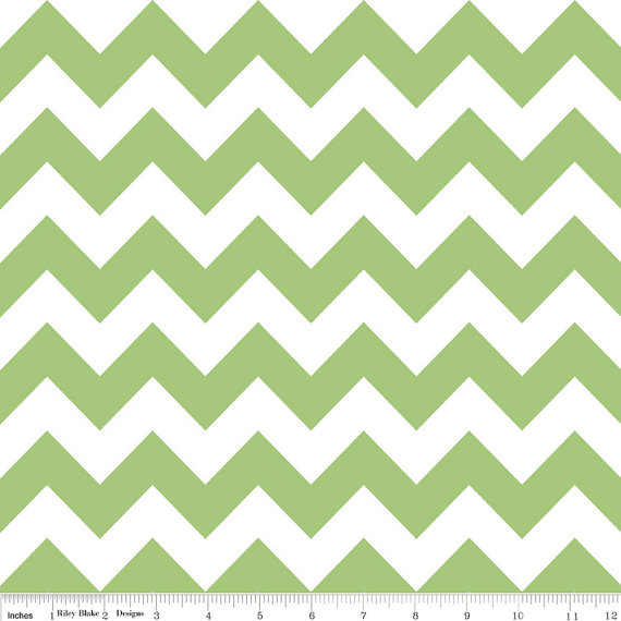 Riley Blake Chevron fabric in Green C32030 1 yard by WhimsyQuilts ...
