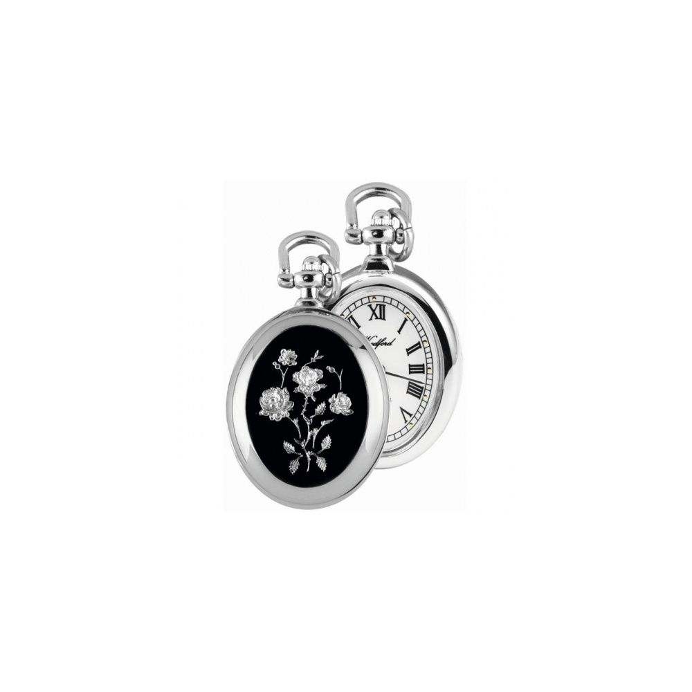 Woodford chrome plated open face flower pendant watch pendant woodford chrome plated open face flower pendant watch pendant watches from pocket watch uk mozeypictures Images