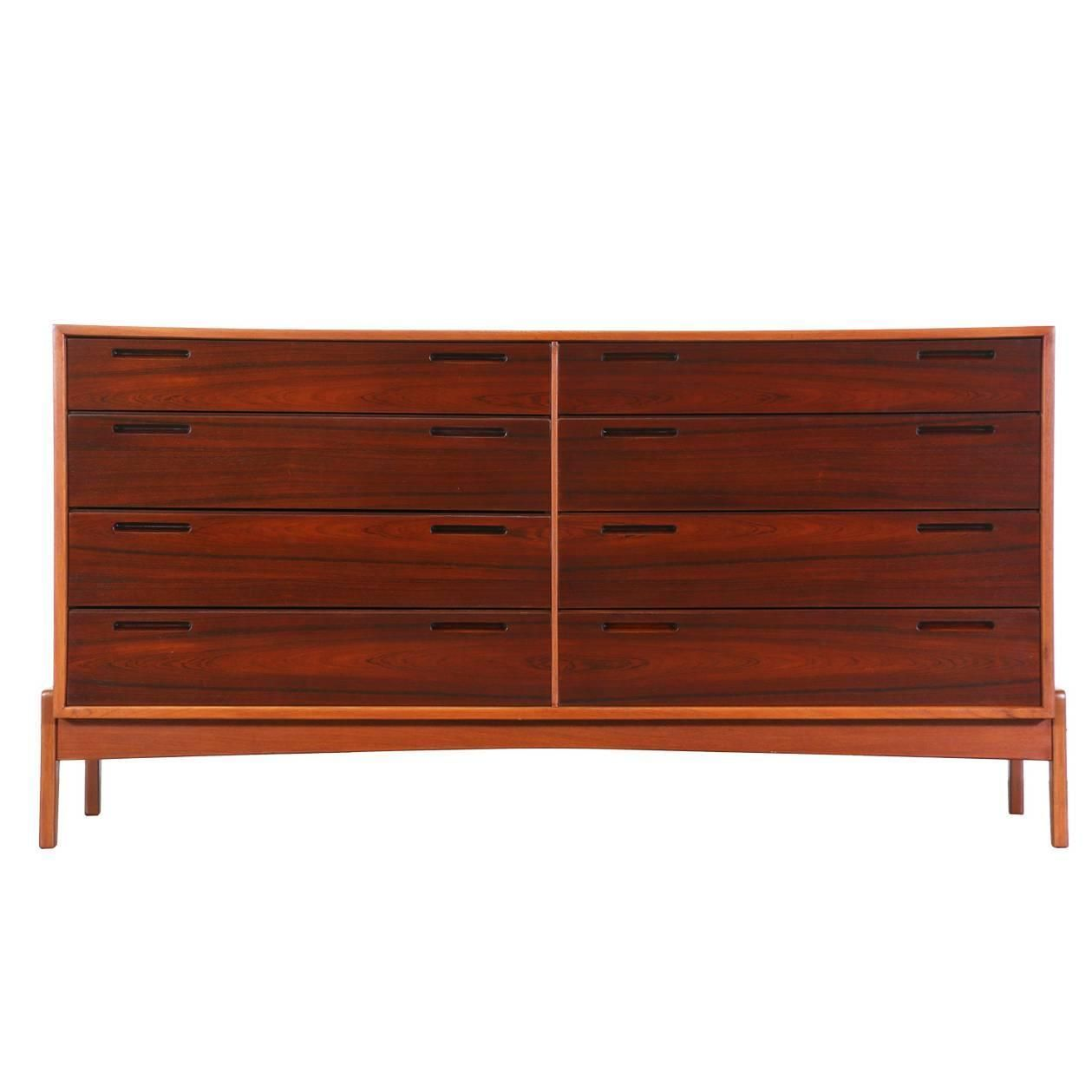 Danish Modern Rosewood And Teak Dresser By William Watting