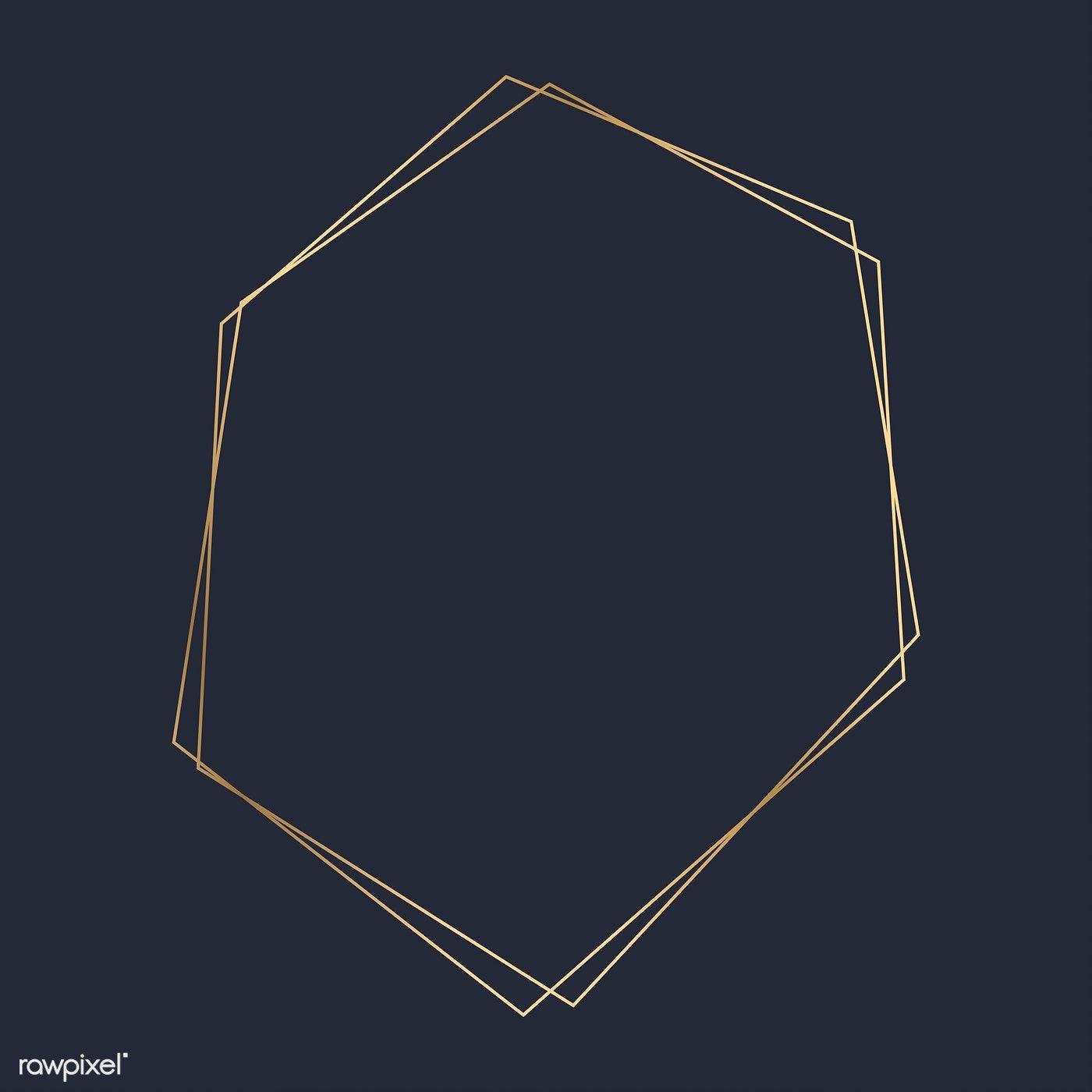 Download Premium Vector Of Golden Hexagon Frame Template