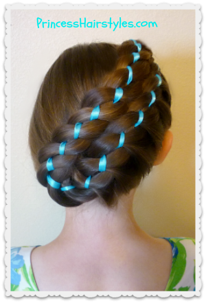 Easter Hairstyles Diagonal Stacked Ribbon Braid Updo Hair Styles Prom Hairstyles For Long Hair Ribbon Braids