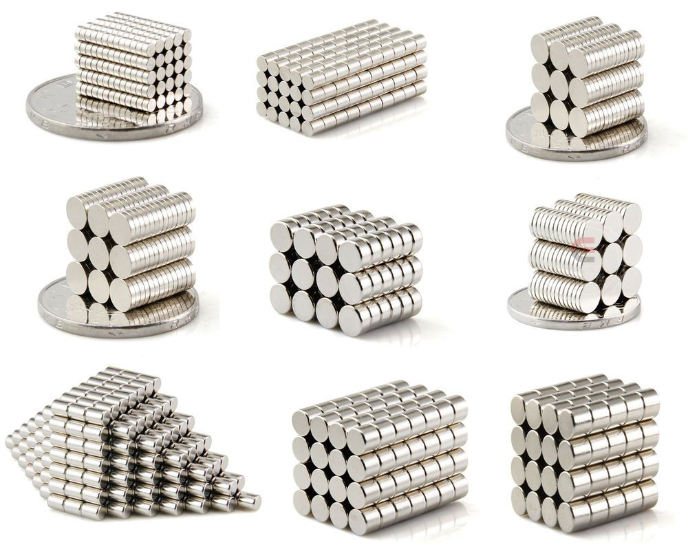 50 1000pc Tiny Neodymium Disc Magnets 2mm 3mm 4mm 5mm 6mm N50 Small Strong Craft Unbrandedgeneric Magnets Disc Magnet Neodymium Magnets
